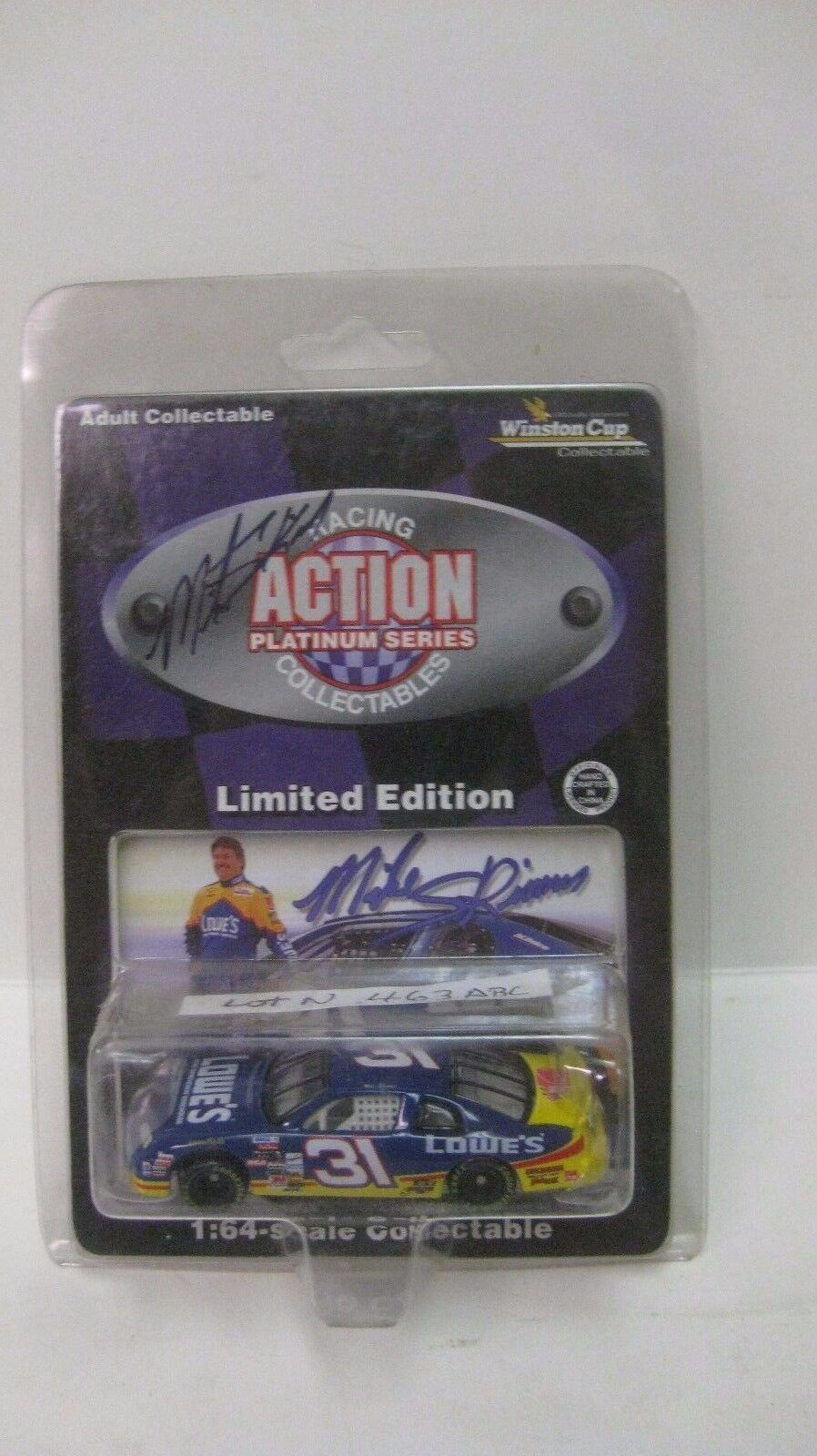 Rare Nascar LE Mike Skinner Autographed Lowe's Chevy 1 64 Diecast NEW dc1449