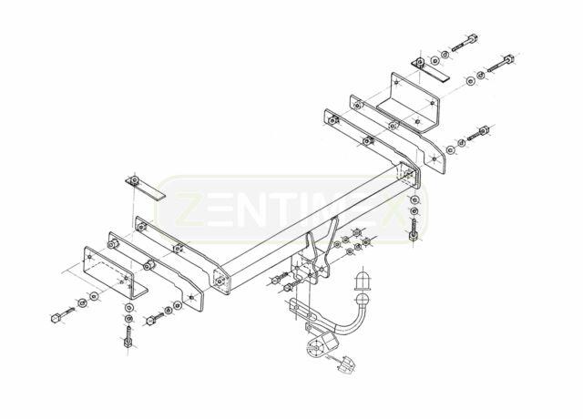 Steinhof Anh/ängerkupplung starr mit fahrzeugspezifischem E-Satz 13-polig