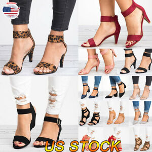 Women-Dance-Shoe-Ankle-Strap-Flat-Casual-Sandals-Shoes-Chunky-Low-Mid-Heel-Dress