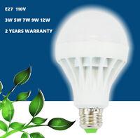 Led Bulb Lamp Light 110v E27 Energy Saving Cool White 3w/5w/7w/9w/12w Multi-pack