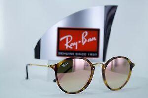 76492493df Ray-Ban Round Fleck RB2447 1160 7O Tortoise Cooper Gradient Flash ...