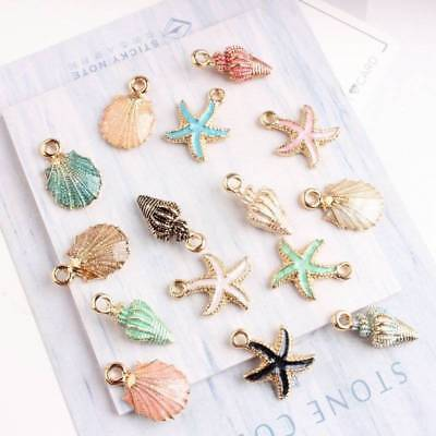 13Pcs Conch Sea Shell Pendant DIY Charms Jewelrys Making Handmade Accessories