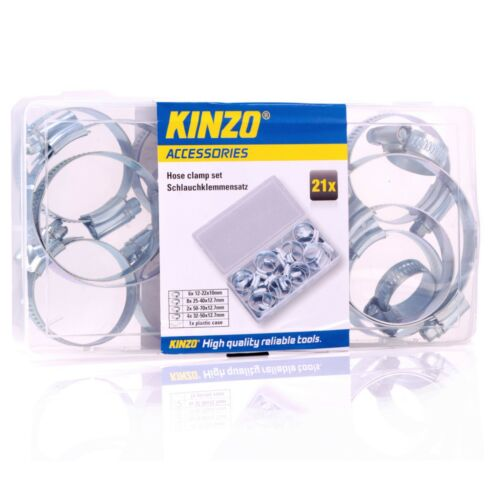 21Pc SMALL LARGE HOSE CLAMP SET Petrol//Diesel//Fuel//Engine//Tube//Clip//Jubilee