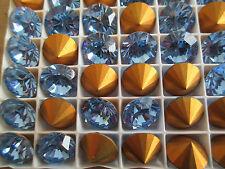 Whole Box Swarovski Brillion Rhinestones SS60 Light Sapphire - 48 Stones - A1160