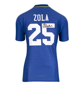 Gianfranco Zola Signed Chelsea Shirt - 1997 FA Cup Final, Number 25