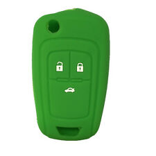 Green Silicone Flip Key FOB keyless cover key case fit for Chevrolet Cruze 3 BTN