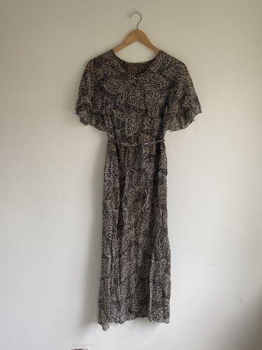 Vintage 1930s Black And White Print Dress