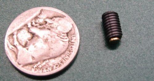 10 Pieces Brass Tip Alloy Steel Set Screws M5 x 0.8 x 8mm Length