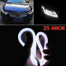 """2X White 23.6"""" LED Universal Car DRL Daytime Running Driving Light Fog Day Lamp"""