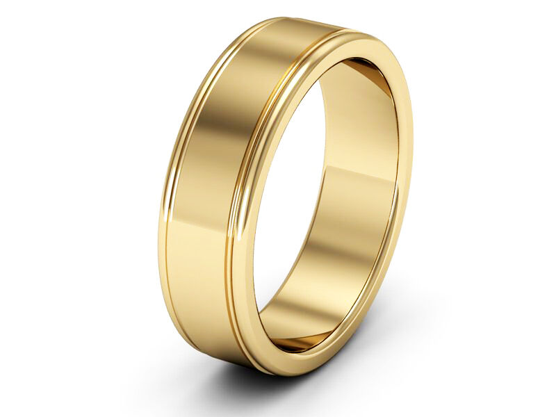New 9ct Yellow gold Wedding Rings Fully Hallmarked Patterned Polished Finish