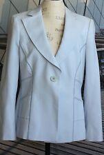 Armani Collezioni Pale Blue Silk One-Button Blazer Made in Italy Size 12
