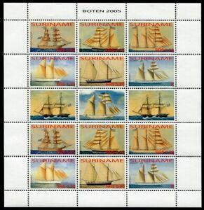 Surinam-2005-Hist-Segelschiffe-Sailing-Ships-Boten-1989-1994-Kleinbogen-MNH