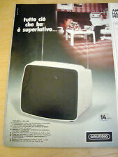 PUBBLICITA' ADVERTISING WERBUNG 1974 TELEVISORE TRIUMPH 1425 UE GRUNDIG (AM50)