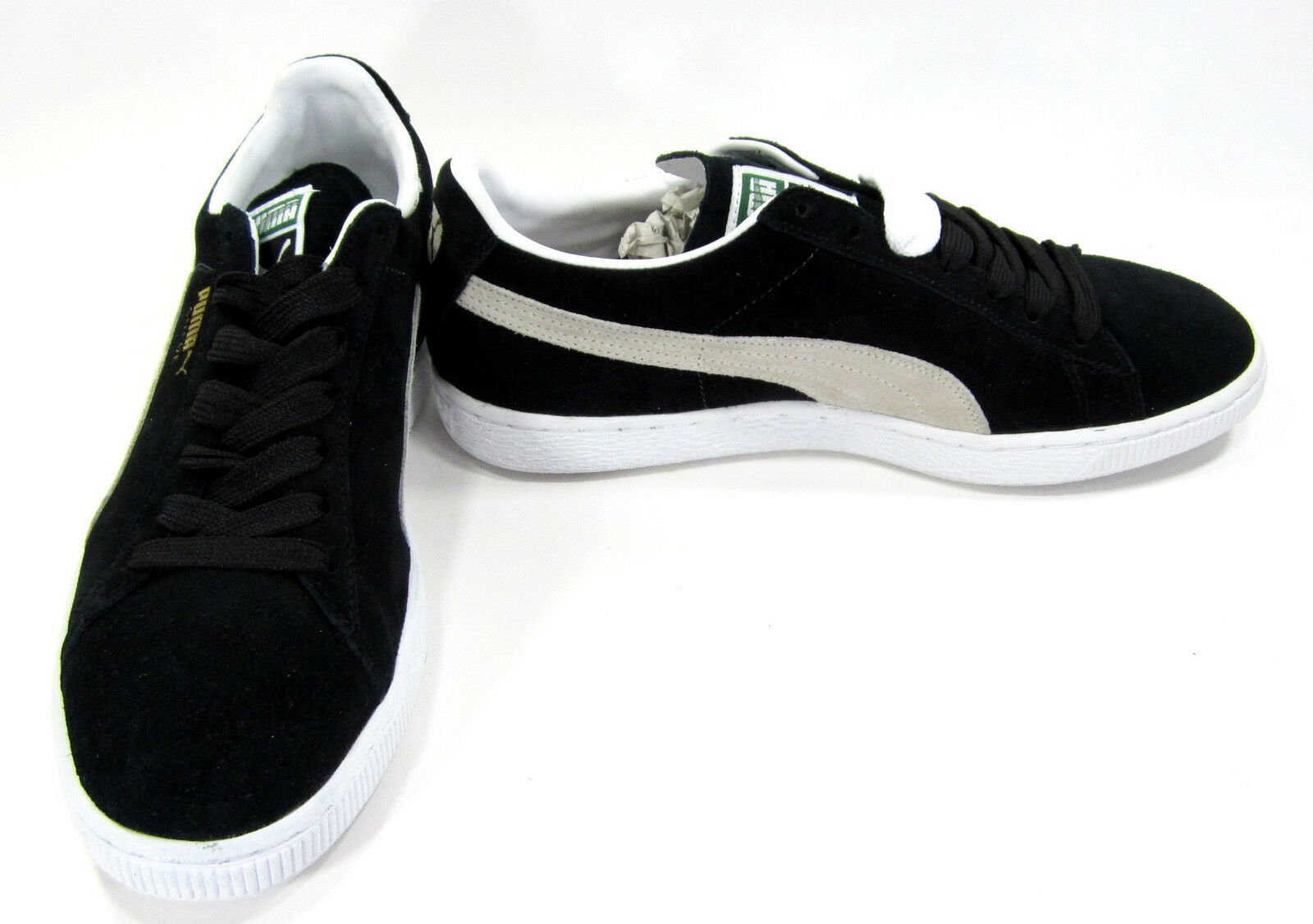 Puma shoes Suede Classic + Black White Sneakers Size 8.5