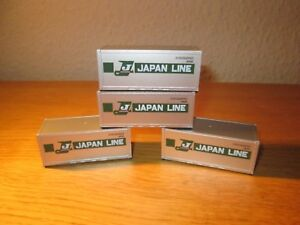 Utile Athearn Oo / Ho Gauge 2043 Containers ' Japan Line ' Very Rare In Uk Suit Hornby