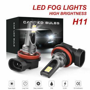 2x-H11-H8-H9-LED-CAR-HEADLIGHT-KIT-HIGH-LOW-BEAM-VEHICLE-REPLACE-HALOGEN