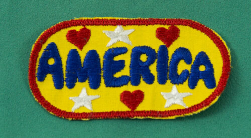 Vintage 1970/'s Hippie Theme Love USA America Embroidered Patch