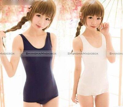 SUKUMIZU Sexy Cosplay Japanese School Swimsuit Swimwear Blue&White