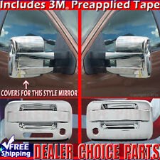 W//KP W//PSK 2DR 2009-2014 F150 Chrome Door Handle Full  Mirror Tailgate COVERS