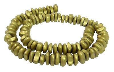 10-12 mm beaded strand for chain and other jewelry making Hematite matt golden nuggets approx