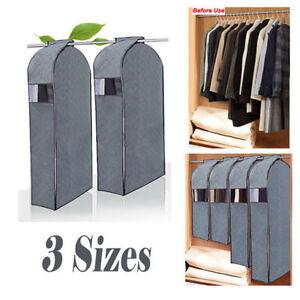 d26248fd60bd Details about Wardrobe Hanging Clothes Garment Suit Coat Cover Dustproof  Bag Storage Protector