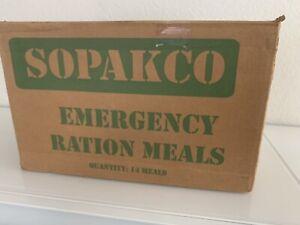 SOPAKCO MRE Emergency Ready to Eat 14 Meals REDUCED SODIUM