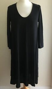 The-White-Company-Black-Scoop-Neck-Dress-Size-10
