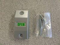 International Li-4089 Storefront Door Exit Indicator Satin Aluminum Finish
