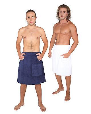 Mens Organic 100% Turkish Cotton Terry Shower Bath Wrap Spa Hotel Robe Towel
