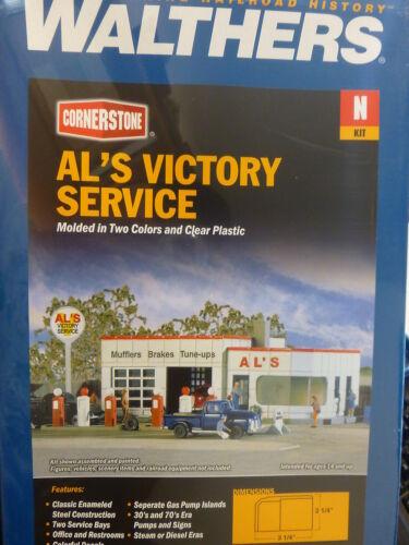 "Kit Walthers Cornerstone N #3243 Al/'s Victory Service 3-1//4 x 2-1//4/"""