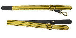 Sword-Sling-Gold-2-Green-Strips-on-Black-Leather-Gold-Buckle-Long-amp-Short-R1807