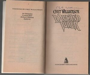 Author-Signed-copy-of-Lowland-Rider-by-Chet-Williamson-1988-Paperback
