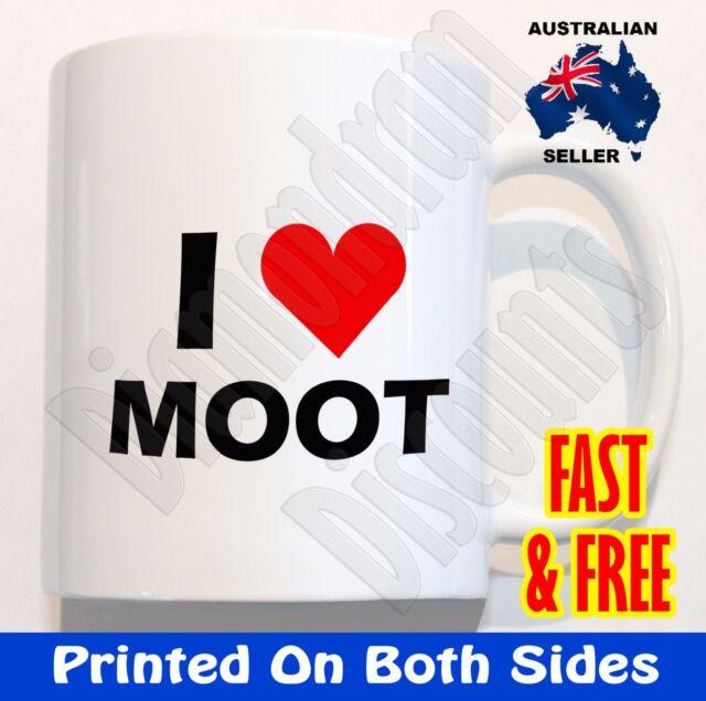 I Love Moot Coffee MUG cup novelty rude birthday gift