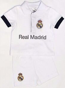 0e416af45 REAL MADRID FC BABIES T SHIRT SHORTS SET KIT BABY SHORT SLEEVE PRAM ...