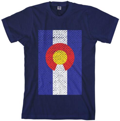 Threadrock Men/'s Colorado Flag T-shirt state denver