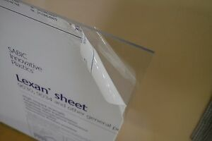 ".030/"" Free Shipping Polycarbonate 1//32/"" Thick Clear 12/"" x 1.. Lexan Sheet"