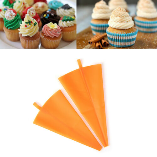 DIY Kitchen Cream Piping Nozzles Silicone Pastry Bag Cupcake Cake Tools