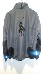 Polo-Ralph-Lauren-Polo-Sport-Performance-Big-Pony-Jacket-In-Gray-with-Black-Pony