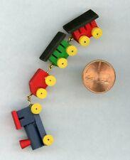 Miniature Dollhouse 4 piece Wooden Train