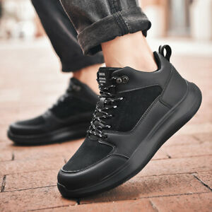 Men-039-s-Leather-Casual-Shoes-Outdoor-Sports-Breathable-Tennis-Running-Sneakers-Jog