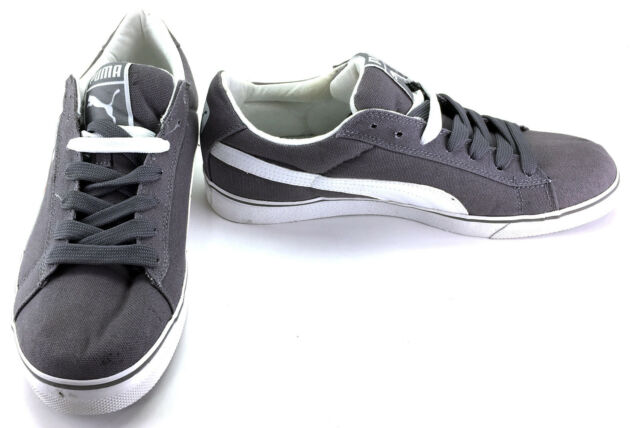 7b48bcecf2c Puma Shoes Classic Vulcanized Canvas Lo Gray White Sneakers Size 11 11.5