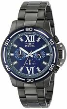 Invicta Men's 15061 Specialty Chronograph Blue Dial Gunmetal IP Watch