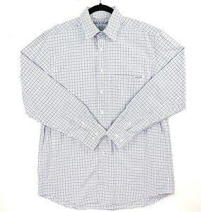 RM-Williams-Stockyard-Men-039-s-Size-Small-White-Blue-Check-Plaid-Long-Sleeve-Shirt