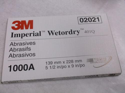 New 3M Imperial Wetordry 401Q  02021 5-1//2 x 9 1000A 50 sheets B19