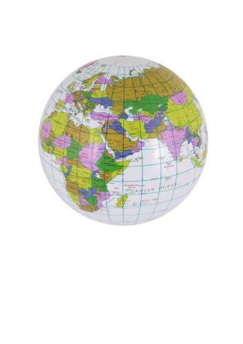 4//8//12//16 Inflatable Globe 40cm Geography World Toy Ball School