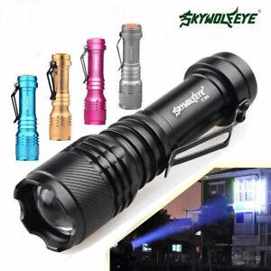 Skywolfeye DEL Lampe Torche 8000 lm Lampe Samll Clip Poche 3 Modes Nightlight ZH