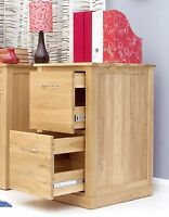 Conran Solid Oak Modern Computer Furniture Two Drawer Office Filing Cabinet