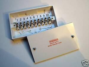 10-Way-15-A-Boite-de-jonction-10-x-15-Amp-Bornes-utile-pour-le-chauffage-Cablage-Centre
