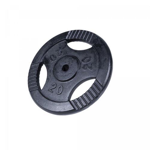 De 0,5 KG à 20 KG Noir Poids disques en fonte 31 mm Gorilla Sports