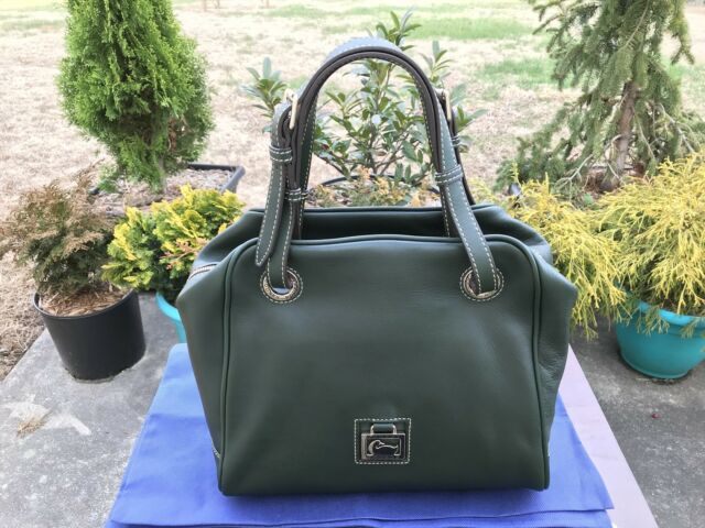 59e5e39ab532 NWT Dooney   Bourke Florentine Leather Zip Around Grommet Large Satchel bag